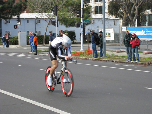 Cyclist during 2009 Amgen Tour of California Time Trial