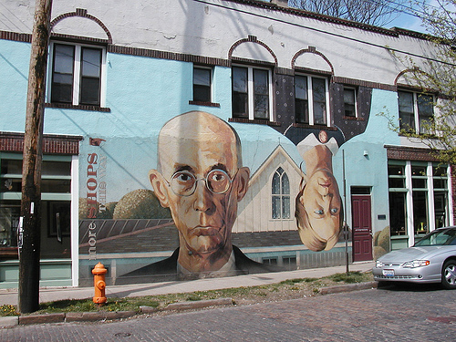 A play on the famous Grant Wood painting in the Short North - Columbus, OH