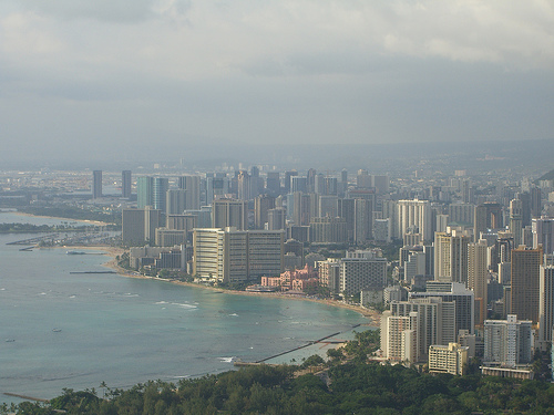 A view of Waikiki from Diamondhead - Honolulu, HI