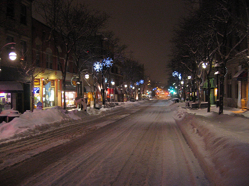 State Street in Winter - Madison, WI