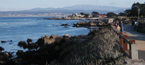 Monterey Bay and the Coastal Trail shot from Pacific Grove, CA