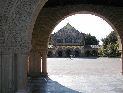 The Stanford Memorial Church at Stanford University, California