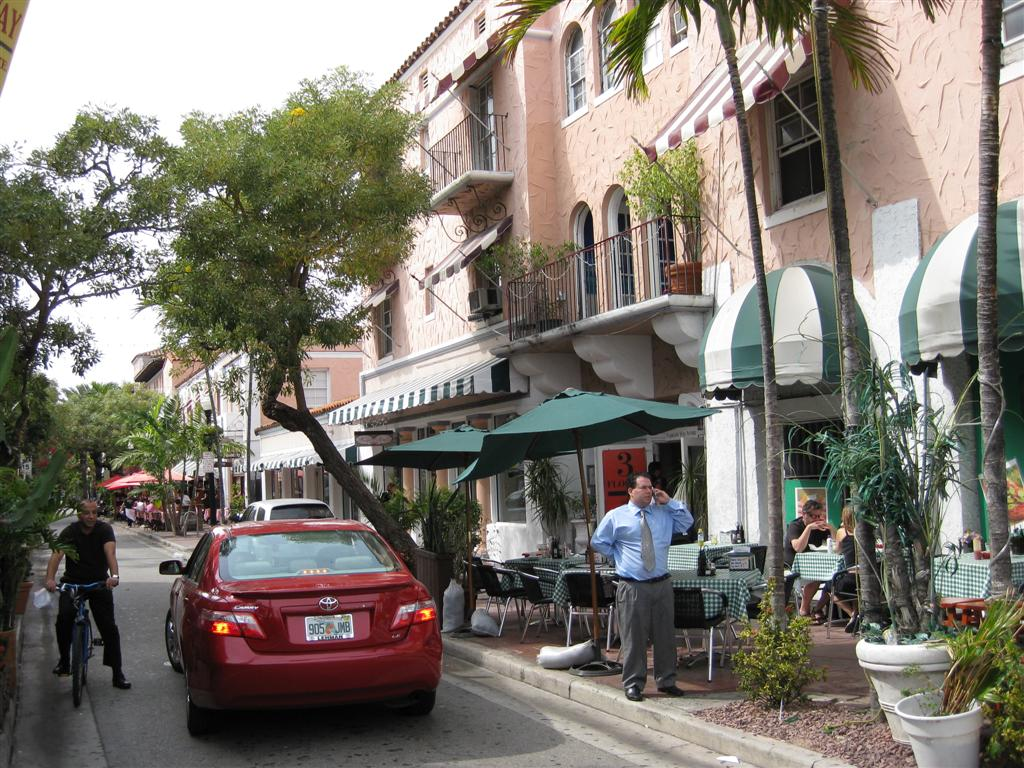 Espanola Way in Miami Beach, Florida
