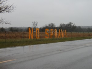 No Sprawl Sign on Farm Outside Yellow Springs, OH